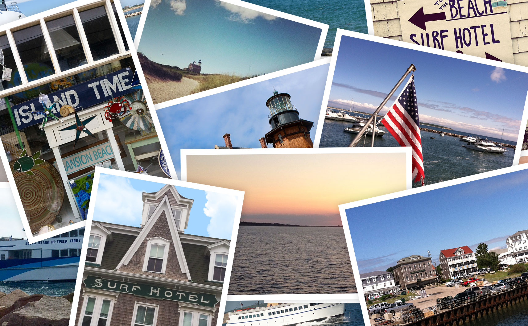 Postcards and Block Island