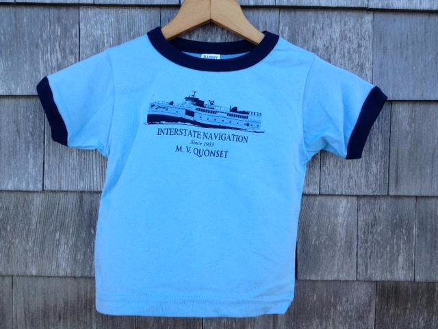 Kids Quonset Tee in Blue Ringer