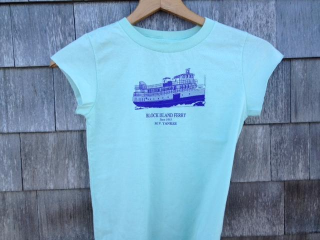 Kids M.V. Athena Tee Shirt in Mint Green