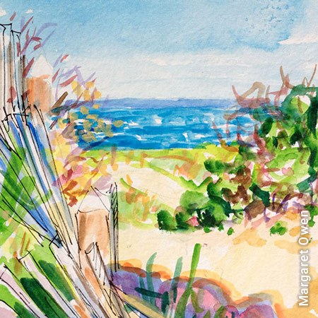 Painting of Block Island